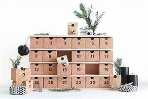 Calendrier De L Avent En Bois à Décorer : un diy calendrier de l 39 avent r utilisable en bois et li ge ~ Zukunftsfamilie.com Idées de Décoration