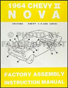 1964 Chevy Ii Bound Assembly Manual 64 Nova And Ss
