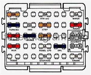 Fuse Box Chevrolet Suburban 1992