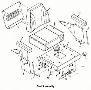 Grasshopper 725a Seat Assembly 2003 Mower Parts Diagrams