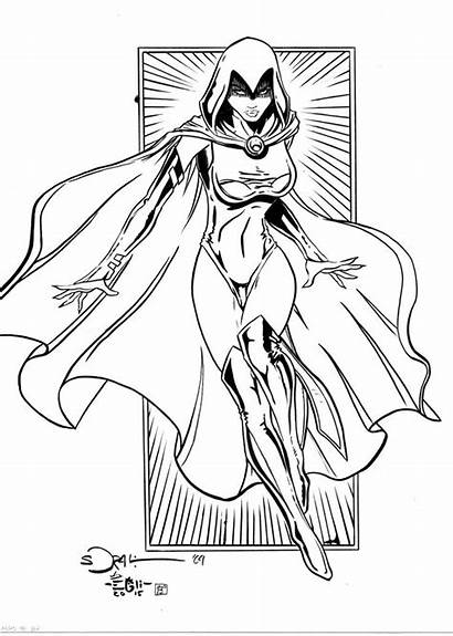 Raven Coloring Pages Drawings Dc Ravens Drawing