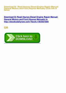Best Pdf Haynes Diesel Engine Repair Manual  General