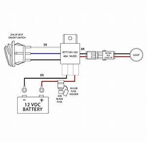 Nilight Off Road Atv  Jeep Led Light Bar Wiring Harness Kit