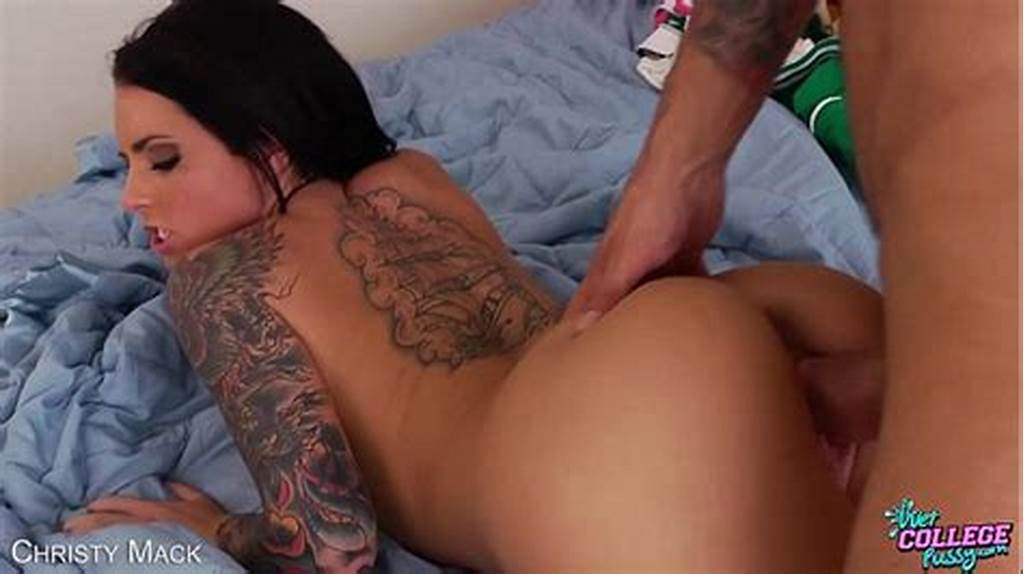 #Hot #Coed #Christy #Mack #Gets #Facialized
