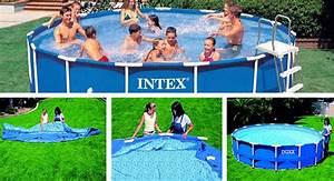 Intex Piscine Tubulaire Ronde : piscine tubulaire ronde intex metal frame 4 57 x 1 07 m ~ Dailycaller-alerts.com Idées de Décoration