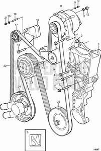 Volvo Penta Exploded View    Schematic Serpentine Belt And