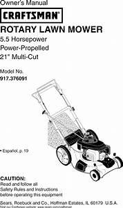 Craftsman 917376091 User Manual Mower Manuals And Guides