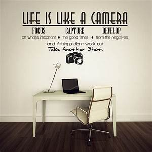 life is like a camera vinyl wall lettering quotes sayings With vinyl letter sayings