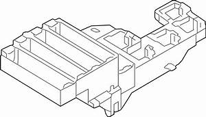 Audi A4 Relay  Holder  Fuse  Plate  Compartment  Rear