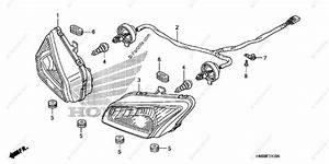 Honda Atv 2007 Oem Parts Diagram For Headlight