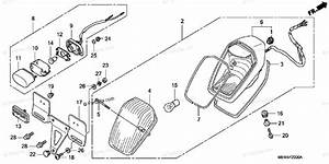 Honda Motorcycle 2006 Oem Parts Diagram For Taillight