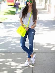 #moda #jeans #bolso #blusa #tennis   Estilo De Moda   Pinterest   Moda Jeans y Zapatos