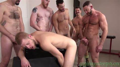 Tall Selfshot Peeing Twins Three Guys Masturbate Yourself Off