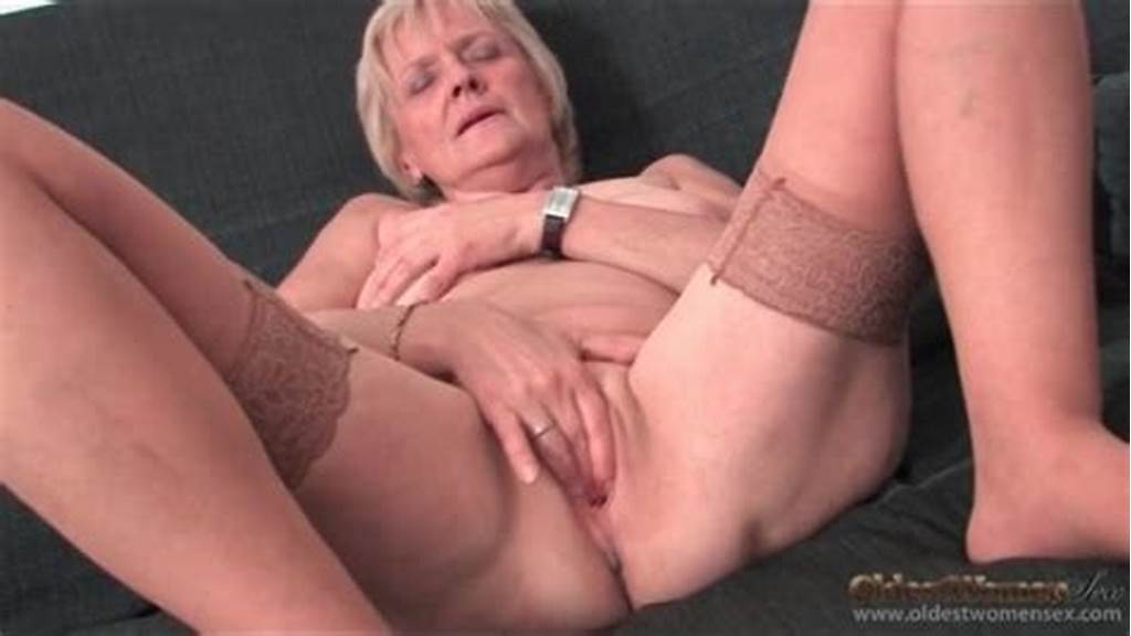 #Saggy #Granny #Strips #To #Stockings #And #Masturbates
