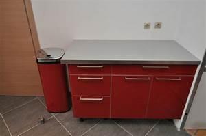 Meuble Haut Cuisine Pas Cher : meuble cuisine rouge pas cher cuisine en image ~ Teatrodelosmanantiales.com Idées de Décoration