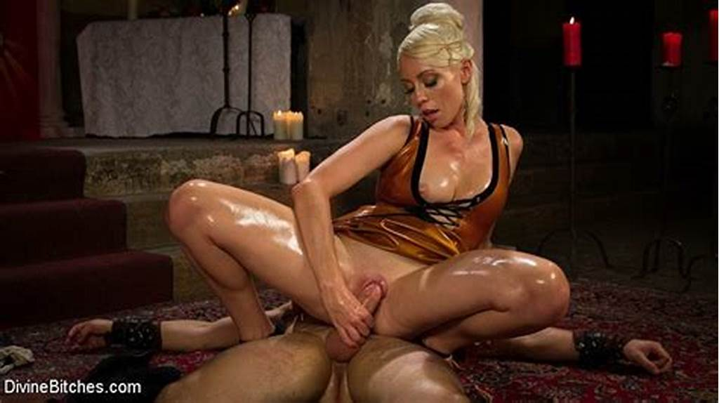 #Lorelei #Lee #Femdom #In #Latex #Dress #Fucks #And #Uses #Slave