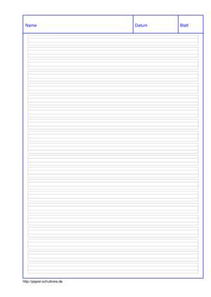 Linienblatt heiszt auch ein mit linien für zahlen versehenes blatt, worauf berechnungen geschrieben werden. Grundschulpapier kostenlos selbst ausdrucken