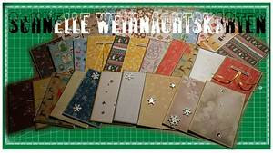 Edle Weihnachtskarten Basteln : einfache weihnachtskarten ganz schnell selbst gemacht 23 ~ A.2002-acura-tl-radio.info Haus und Dekorationen