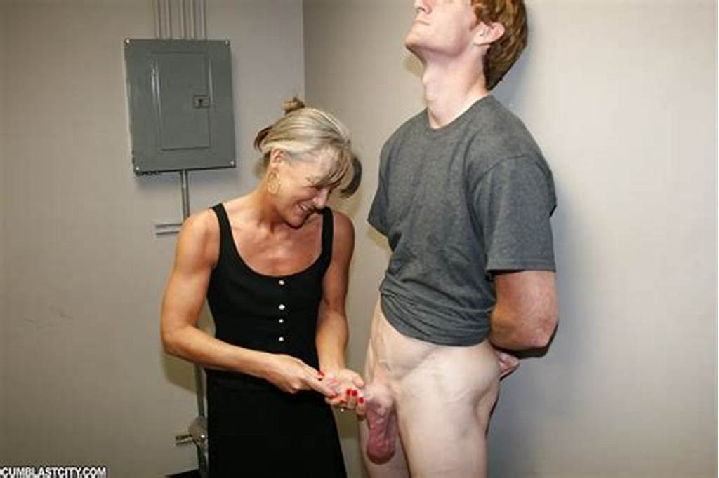 #Fully #Clothed #Horny #Granny #Gives #Hot #Handjob #And #Gets #Cum