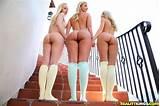 Lesbian threesome knee socks