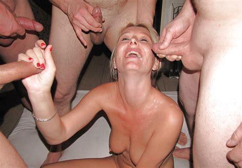 Hot Blonde Milf Gangbang