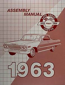 1963 Chevy Wiring Diagram Manual Reprint Impala  Ss Bel