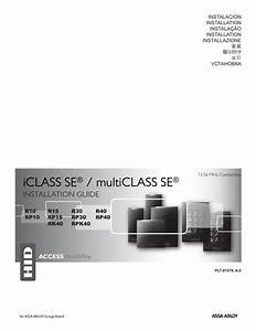 Hid Iclass Se   Multiclass Se Installation Guide User