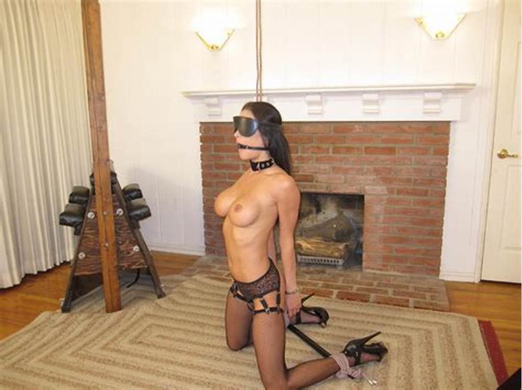 #Blindfolded #And #Tied #Up #Horny #Busty #Brunette #15228