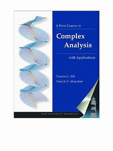 Complex Analysis D G Zill Solution Manual