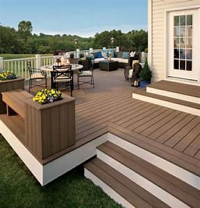 terrasse With faire une terrasse en bois composite