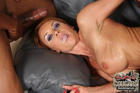 Trash Cougar Eating Penis Adorable Wifes Janet Mason In Vaginal Foursome