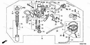Honda Atv 2004 Oem Parts Diagram For Carburetor