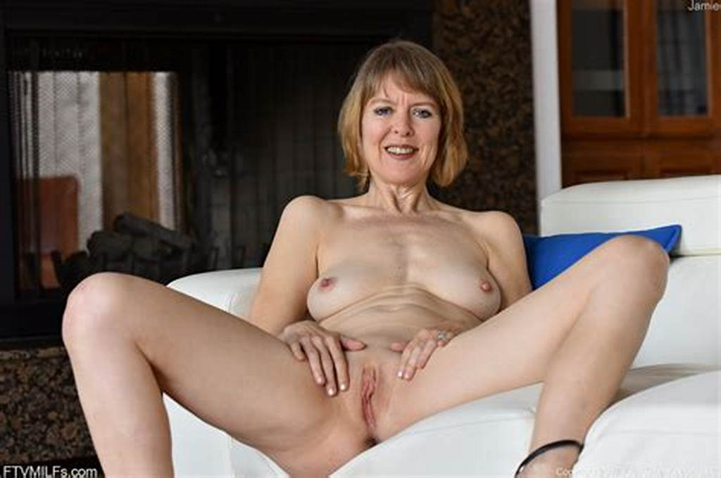 #Older #Lady #With #Short #Hair #Flaunts #Her #Small #Tits #And