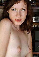 Girl with freckles and small tits