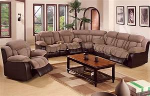 Sofas recliners sectional infosofaco for Sectional recliner sofa with cup holders in chocolate microfiber