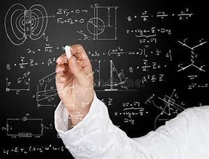 Physics Diagrams And Formulas Stock Photo