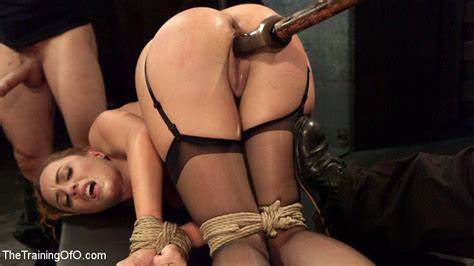 Obedient Hussy Taking Her Legs And Hands Tied To The