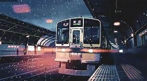 gif snow beautiful alone train 5 Centimeters Per Second ...