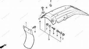 Honda Motorcycle 1993 Oem Parts Diagram For Rear Fender