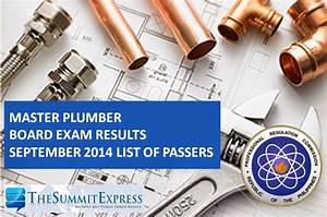 List Of Passers  Master Plumber Board Exam Results