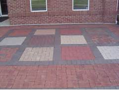 Adding Pavers To Concrete Patio Decorate Multi Color Brick Formation