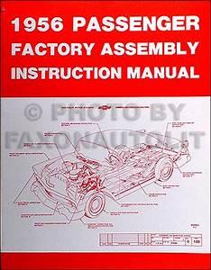 1956 Chevrolet Nomad Sedan Delivery Wagon Body Manual