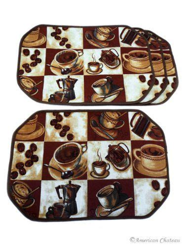 Diy kitchen cabinet painting is a good option, doing carefully not to make paints spill out. Set 4 PIECE Coffee Placemats ESPRESSO LATTE Decor TABLE CAFE KITCHEN Place Mats | Coffee decor ...