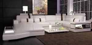 canape angle en cuir vachette blanc With canapés en cuir haut de gamme