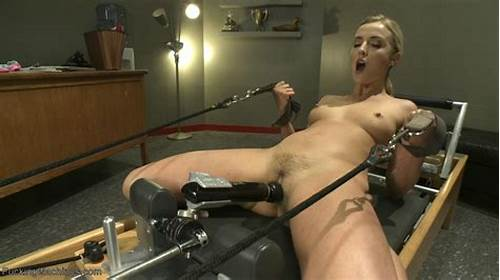 Puss Drilling For Sultry Blonde Chick #Sexy #Babe #Gets #Fucked #By #Machines #Until #She #Squirts #All