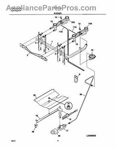 Parts For Frigidaire Fgf316asa  Burner Parts