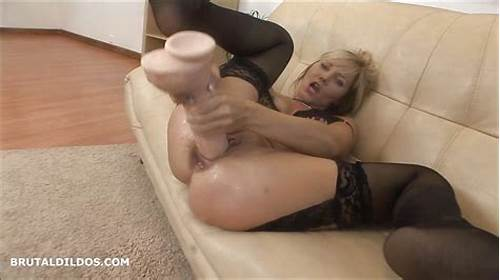 Rough Asshole Canadian Schoolgirl #Blonde #Milf #Punishes #Her #Asshole #With #A #Brutal #Dildo