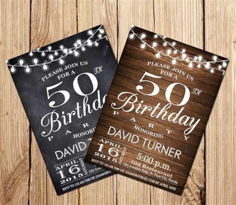 14+ 50th Birthday Invitations Free PSD AI Vector EPS