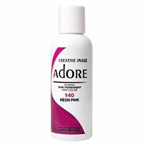 Adore Semi Permanent Hair Color 140 Neon Pink 4oz Nancy