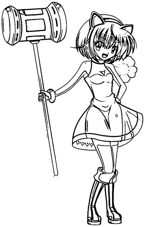 awesome Amy Rose Manga Girl Coloring Page Princess
